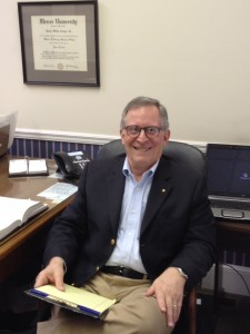 Jim Conger In his office